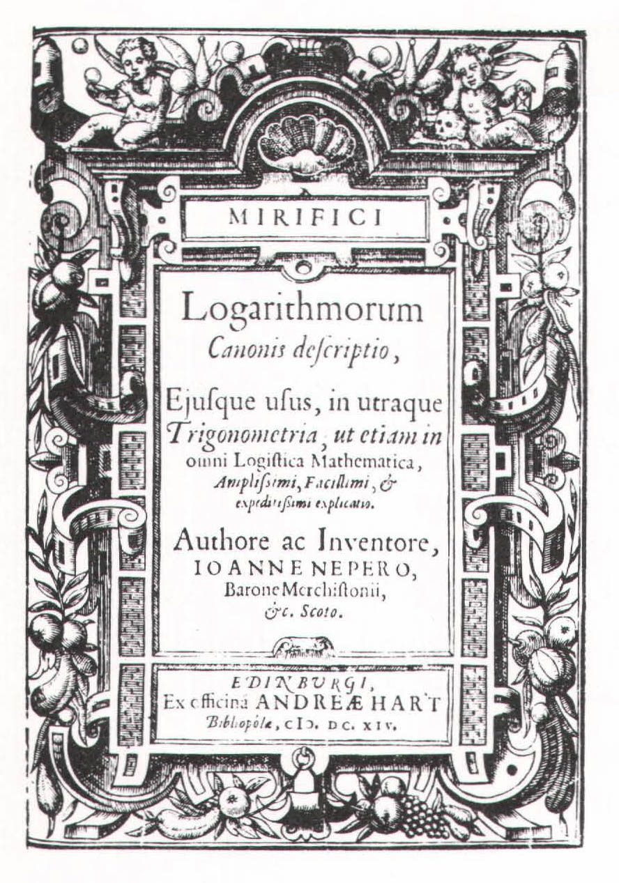 history of logarithms essay A time-line for the history of mathematics (many of the early dates are  approximates) this work is under constant revision, so come back later please  report any.