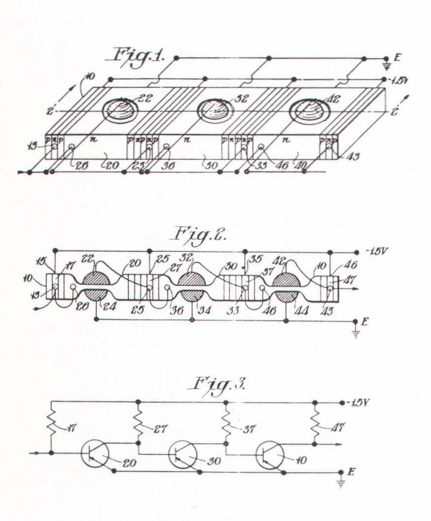 86 Noyces Integrated Circuit Bit By The Is Invented Jack Kilby In 1958 Three Illustrations From Lehovecs Ic