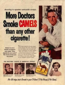 Figure 4. Camel advertisement