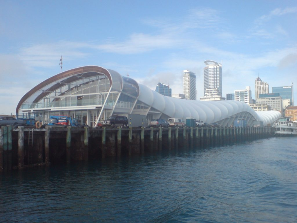 """The Cloud"" is a structure on Queen's Wharf on Auckland's waterfront"